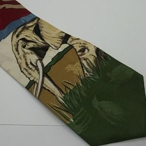 Elephants on the Savannah Necktie